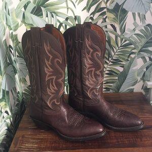Nocona leather cowboy boots men's 8 or women's 10